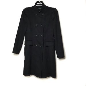 Zara 100% Wool Double Breasted High Neck Coat